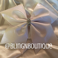 Simply White Cheer Bow