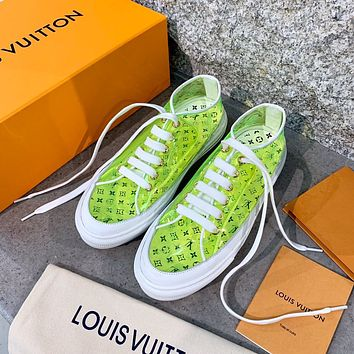 Louis Vuitton LV new best selling jelly transparent printed letters ladies casual sneakers