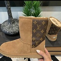 LV Louis Vuitton UGG Woman Men Fashion Wool Snow Boots