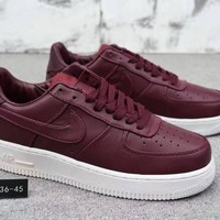 """Nike Air Force 1"" Unisex Simple Casual Fashion Thick Bottom Low Help Plate Shoes Couple Sneakers"