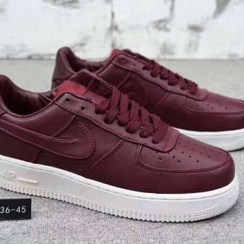 """""""Nike Air Force 1"""" Unisex Simple Casual Fashion Thick Bottom Low Help Plate Shoes Couple Sneakers"""