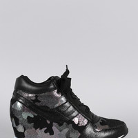 Glamour Camouflage High Top Sneaker