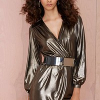 Nasty Gal Frisco Inferno Metallic Dress