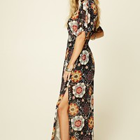Smocked-Waist Floral Maxi Dress