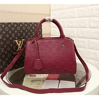 LV Louis Vuitton MONOGRAM LEATHER MONTAIGNE HANDBAG SHOULDER BAG