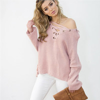 Sweater V-neck Tops Women's Fashion Needles [9168430148]