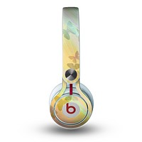 The Abstract Color Butterfly Shadows Skin for the Beats by Dre Mixr Headphones