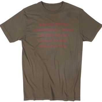 All Natural olive graphic tee