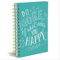 Do More Hard Cover Writing Journal. 160 Ruled Pages.