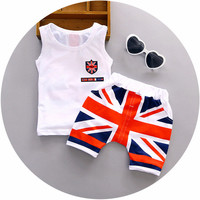 High quality baby boy clothes set 2pc