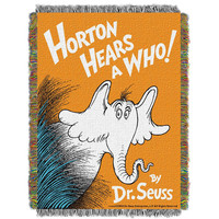 Dr. Suess Horton Hears a Who  Woven Tapestry Throw (48inx60in)