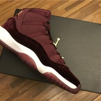 Air Jordan 11 GS Wine red Basketball Shoes 36-44