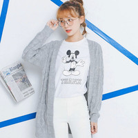 Sweet Open Front Patch Pocket Cardigan