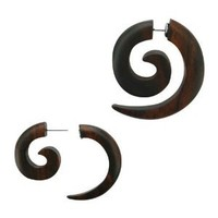 Faux Wood - Wild Tribe Organic Fake Tapers - 16g - Sold As A Pair