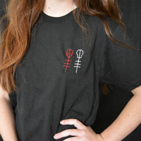 Twenty One Pilots Symbol Embroidered Shirt