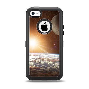 The Earth, Moon and Sun Space Scene Apple iPhone 5c Otterbox Defender Case Skin Set