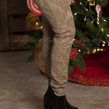 BIG STAR ALEX MID RISE SKINNY IN TAUPE