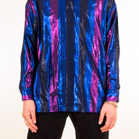 Party Lights Iridescent Button-Up