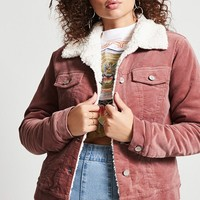 Faux Shearling Velvet Jacket