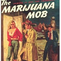 The Marijuana Mob 11x17 Retro Book Cover Poster