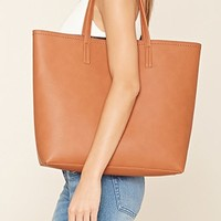 Score stylish canvas and faux leather tote bags now | Forever 21 - Totes + Travel | WOMEN | Forever 21