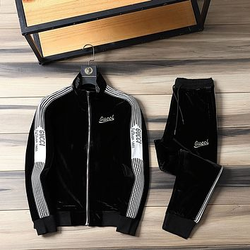 Gucci 2021 Top Gift new color matching letter printing sports suit two-piece 06284
