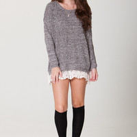 May Lace Trim Sweater