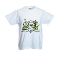 Creativity Is Messy (Green) Kids T Shirt