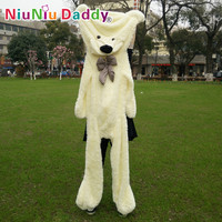 "Niuniu Daddy200cm 79"" inch Big Plush toys Semi-finished bear Plush Bear Skin plush teddy bear skin Free Shipping"