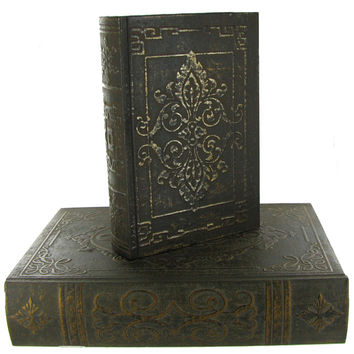 Book Boxes with Scroll Designs   Hobby Lobby