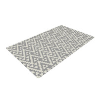 "Amanda Lane ""Geo Tribal Gray"" Grey Tribal Woven Area Rug"