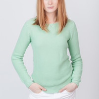 Structured Long Sleeve Knit Mint