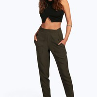 Yasmin Zip Side Pocket Detail Tailored Trousers