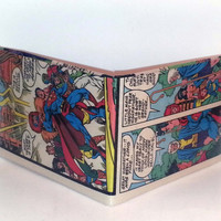 Comic Book Wallet// Superman, Forever People, and Highfather