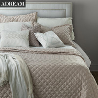 Fashion Summer Bedspreads, Faux Silk Cotton Coverlet, Quilt, Quilted Bedspread, Stitching Comforter, Queen King Size