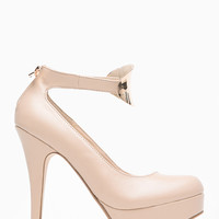 Bamboo Nude Mini Plated Almond Toe Pump