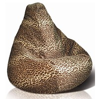Adult Bean Bag, Velvet Leopard - Multicolored