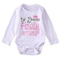 Toddler Infant Baby Girls Winter Long Sleeve Romper Costume Clothes Princess Jumpsuit Outfits