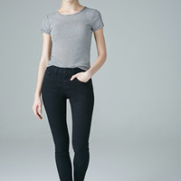 Mid-Rise Clean Wash Skinny Jeans