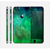 The Vivid Green Sagging Painted Surface Skin for the Apple iPhone 6 Plus