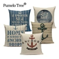 Anchor ship Throw Pillow Cover Bedding Camping Hotel Office Home ocean Decor  Cushion Cover Fabric For Furniture Pillowcase