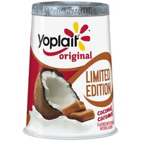 Yoplait Original Limited Edition Coconut Caramel Lowfat Yogurt, 6 oz - Walmart.com