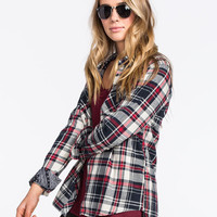 Young & Reckless Womens Flannel Shirt Red/White/Blue  In Sizes
