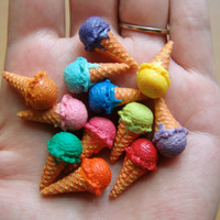 Miniature Mold Flexible Silicone Ice Cream Scoop Mold - Food Jewelry Polymer Clay Projects