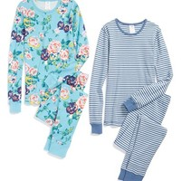 Girl's Mini Boden Two-Piece Fitted Pajamas (Set of 2)
