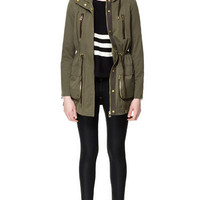 HOODED PARKA WITH GUSSETED POCKETS - Coats - Woman - ZARA United States