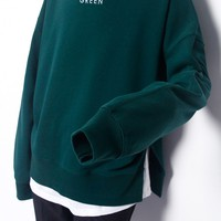 Green High Neck Top