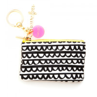 Zip Zip Keychain Pouch - Black Frills or Gold/Mint