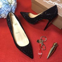 Christian Louboutin CL 100mm Patent Leather High Heels W10 - Best Online Sale