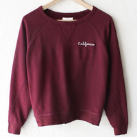 California Distressed Sweater